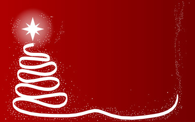 Red Scrible Christmas Tree