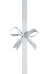 silver thin ribbon with bow