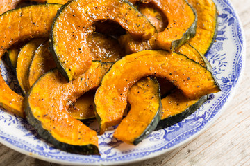 Roasted slices of pumpkin - zucca al forno