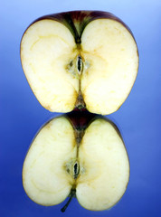 Half a red apple