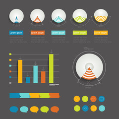 Minimalistic modern infographic folder.