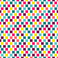 Color seamless repeat pattern on white background.