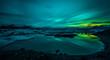 Leinwanddruck Bild - Jökulsárlón - Bucht mit Eisbergen - Gletscher