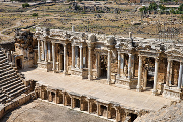 theater in ancient Hierapolis, Turkey