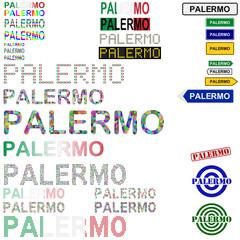 Palermo text design set