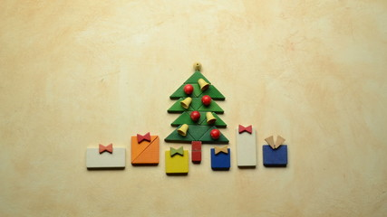 Christmas tree with gifts - HD stopmotion animation