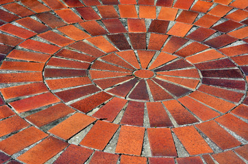 Red tile floor