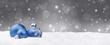 Weihnachtshintergrund / Kugeln / Schnee