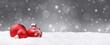 Leinwandbild Motiv Weihnachtshintergrund / Deko / Kugeln