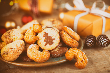 Plätzchen und Kekse zu Weihnachten - Vintage Look