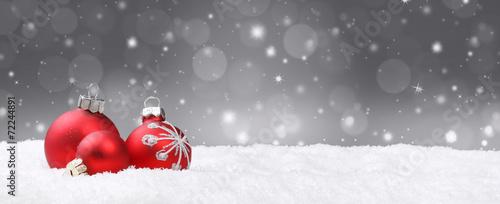 Leinwanddruck Bild Weihnachtshintergrund / Deko / Kugeln