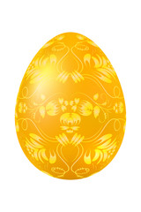 Easter egg with elements of traditional Russian pattern. Design