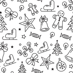 New Year and Christmas vector Illustration