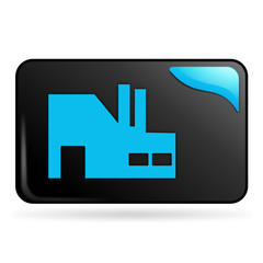 industrie sur bouton web rectangle bleu