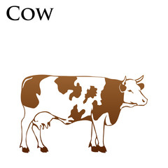 colored cow vector illustrator