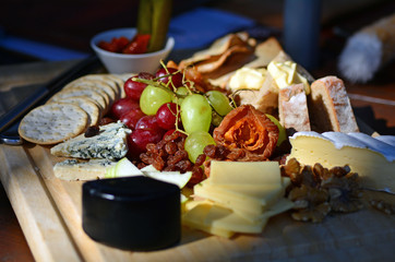 Luxury cheese plate