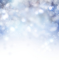 Christmas background. Winter holiday snow background