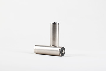 AA batteries on white