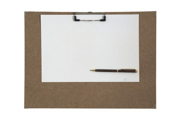 Art board and pen isolated white background