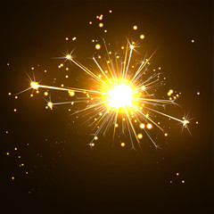 Wunderkerze, funkelnd, Silvester, Party, Symbol, Neujahr, Feier