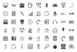 Black icons collection for freelance and business