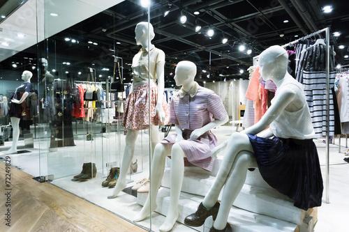 Leinwandbild Motiv clothing fashion shop exhibition window
