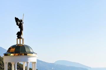 St. Michael the Archangel statue on belvedere