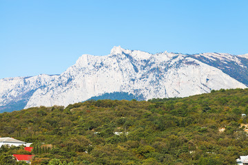 view of Crimean Mountain from Gaspra, Crimea
