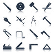 Carpentry tools icons black - 72250497
