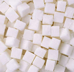 Refined sugar cubes background