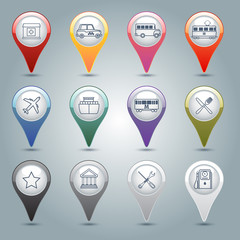 Gps markers set