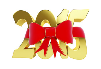 new year 2015 gift. 3d Illustrations on a white background