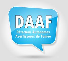 DAAF : détecteur autonomes avertisseurs de fumée