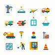 Construction flat icons set - 72251407