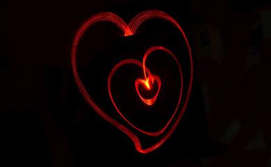 led lambalı aşk gösterisi