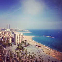 A beach in Barcelona