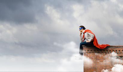 Thoughtful superman