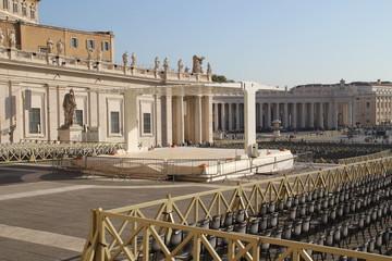 Die Audienzbühne auf dem Petersplatz