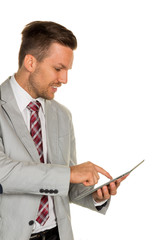 Manager mit Tablet Computer