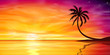 Sunset, Sunrise with Palm Tree - 72254208