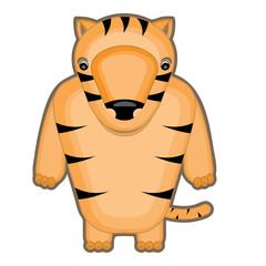 cartoon illustration of a baby tiger