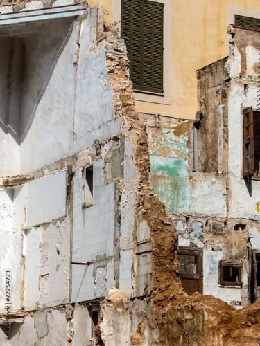 canvas print picture Abbruch eines Hauses