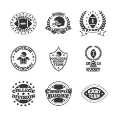 Baseball labels icons set