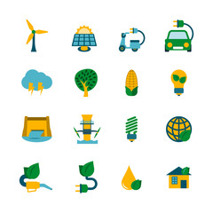 Eco Energy Icons Set
