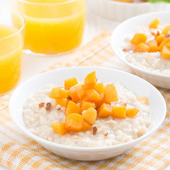 oatmeal with apricots and walnuts for breakfast