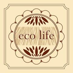 eco healthy life natural product decorative emblem