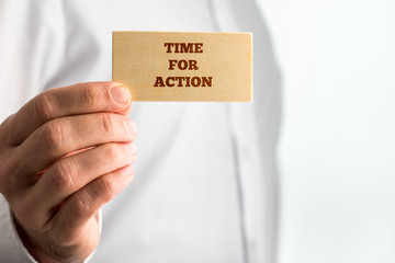Creative Time for Action Concept