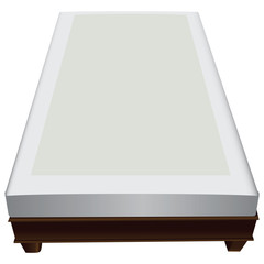 Wooden frame with mattress