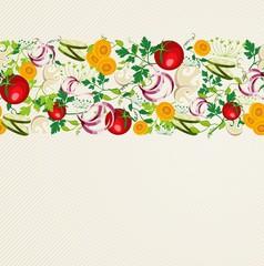 Healthy organic food pattern