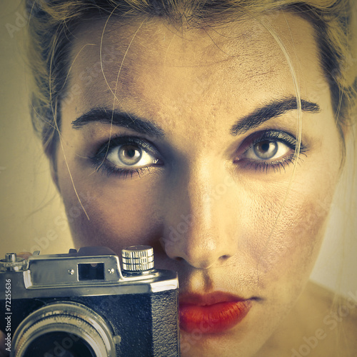 canvas print picture Old fashioned camera